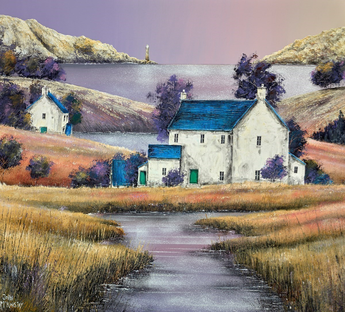 Marsh House by John Mckinstry -  sized 24x24 inches. Available from Whitewall Galleries